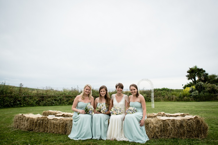 Long Green Bridesmaid Dresses Beautiful Country Barn Relaxed Family Wedding http://hollybobbins.com/