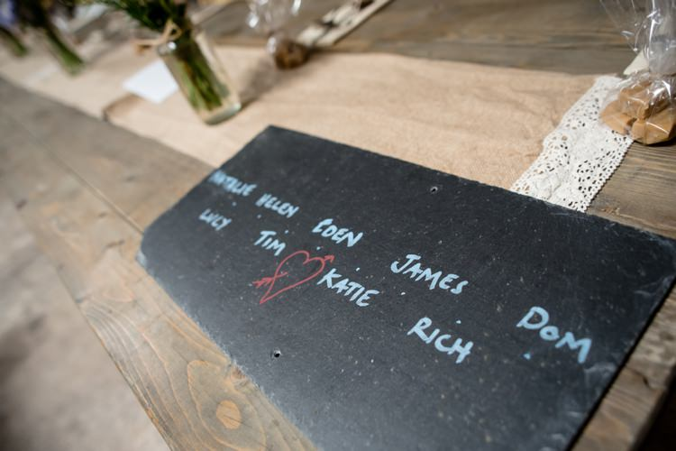 Slate Place Names Beautiful Country Barn Relaxed Family Wedding http://hollybobbins.com/
