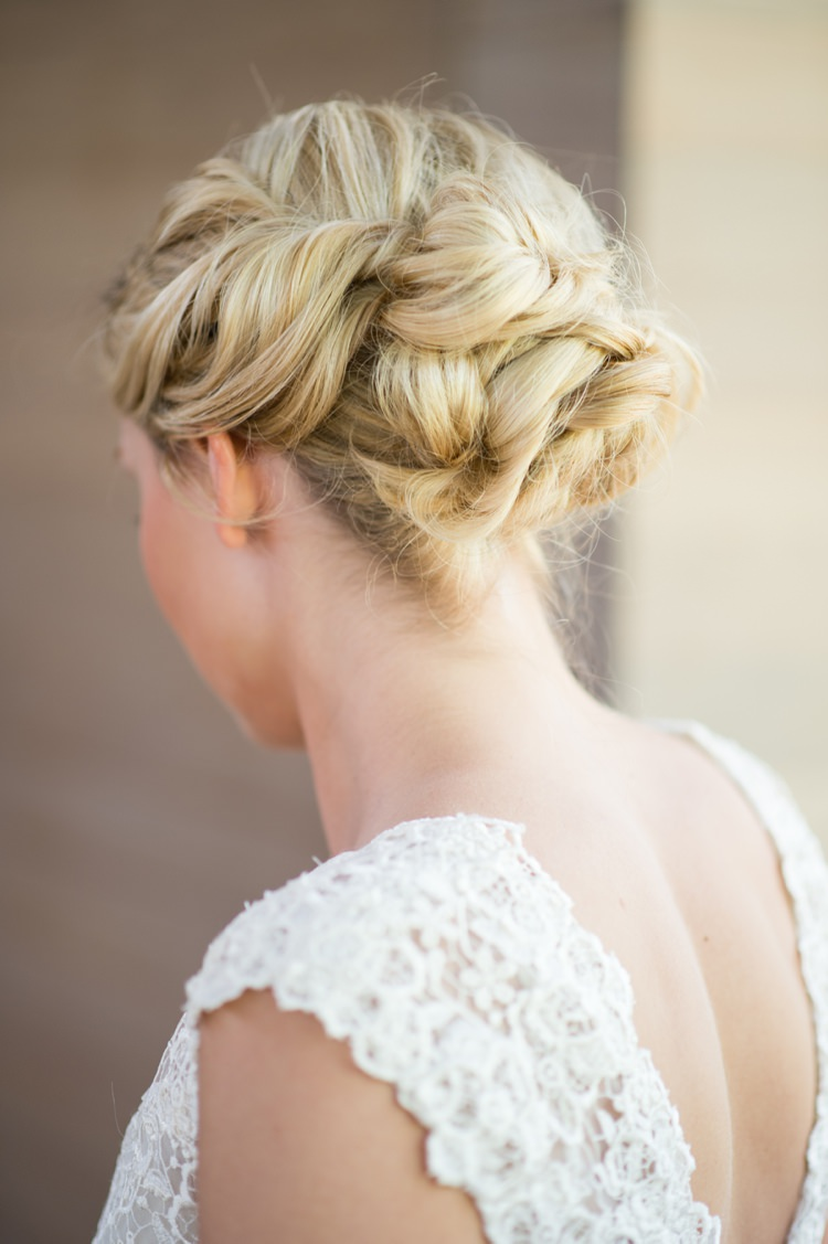 Rustic Hair Bride Bridal Style Modern Monochrome Sculpture Garden Wedding Texas http://www.coryryan.com/
