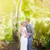 Modern Monochrome Sculpture Garden Wedding in Texas