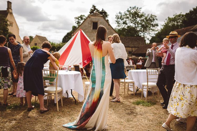 Khandro' Dress Gown Colour Wai Ching Bride Bridal Eclectic Fun Festival Farm Fete Wedding http://www.pottersinstinctphotography.co.uk/