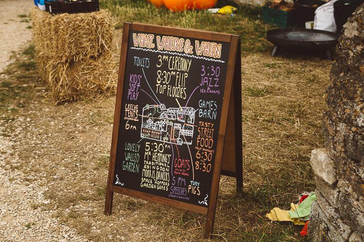 Blackboard Order Service Eclectic Fun Festival Farm Fete Wedding http://www.pottersinstinctphotography.co.uk/