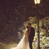 Snowy Glam Glitter Winter Wedding http://www.rebeccadouglas.co.uk