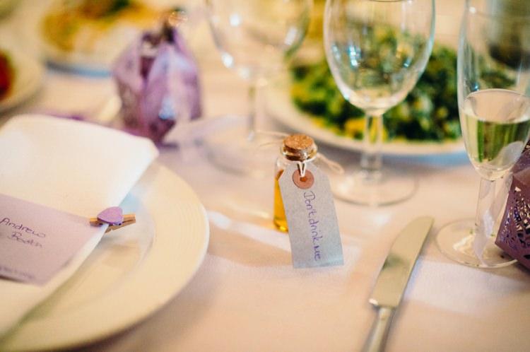 Whisky Favours Bottles Mini Lavender Warehouse London Wedding http://www.babbphoto.com/