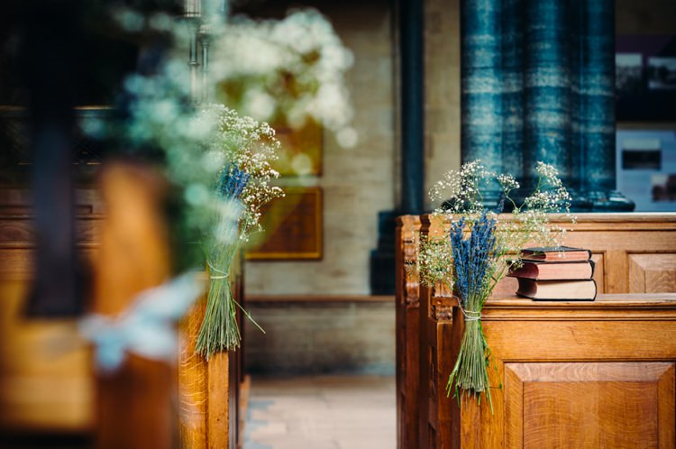 Gypsophila Pew Ends Church Flowers Lavender Warehouse London Wedding http://www.babbphoto.com/