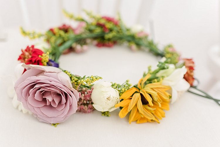 Flower Crown Bride Bridal Autumn Seasonal Local Our Whimsical Woodland Wedding Ceremony UK http://alexa-loy.com/