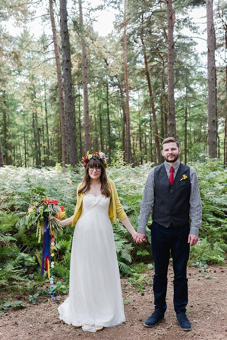 Mustard Cardigan Bride Bridal Accessory Our Whimsical Woodland Wedding Ceremony UK http://alexa-loy.com/