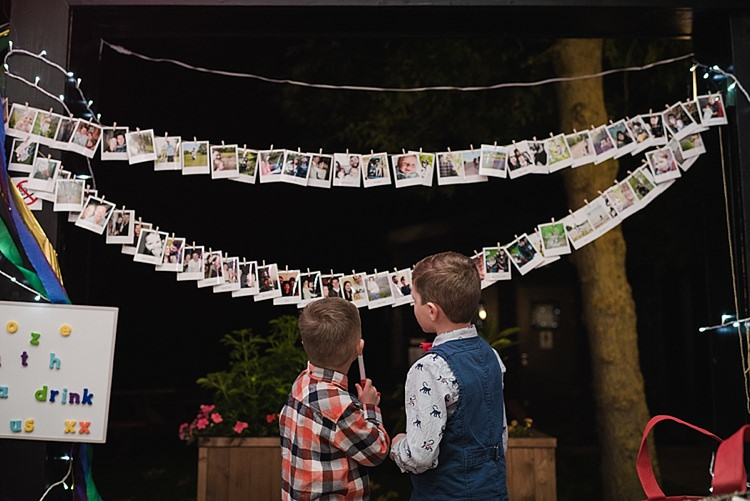 Photo Garland Pegs String Twine Colourful Rainbow Gold Camp Wedding Party http://alexa-loy.com/