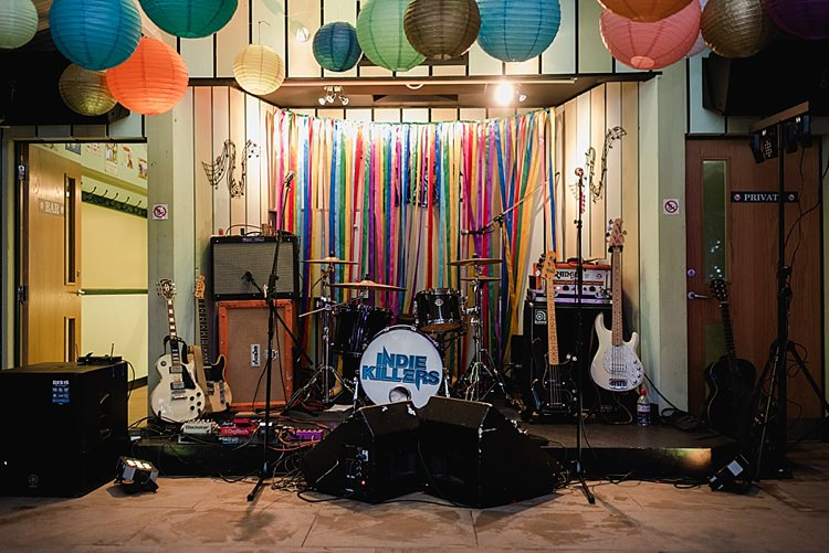 Ribbon Back Drop Band Indie Killers Colourful Rainbow Gold Camp Wedding Party http://alexa-loy.com/