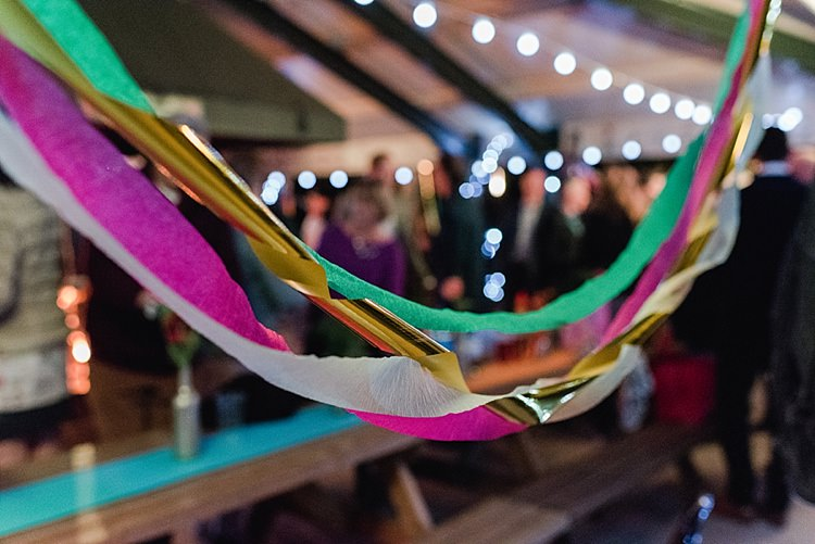 Crepe Paper Streamers Colourful Rainbow Gold Camp Wedding Party http://alexa-loy.com/