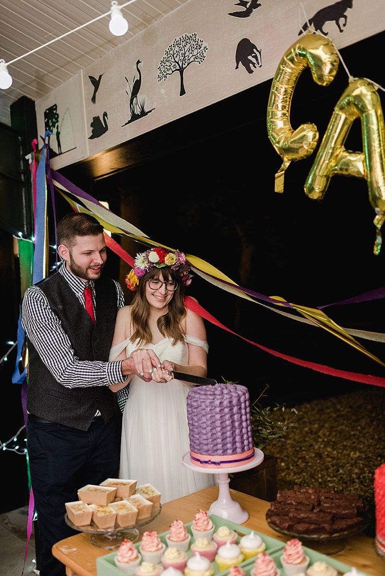 Colourful Rainbow Gold Camp Wedding Party http://alexa-loy.com/
