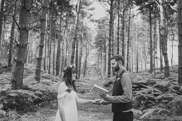 Writing Own Vows Our Whimsical Woodland Wedding Ceremony UK http://alexa-loy.com/