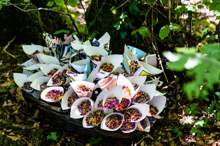 Confetti Cones Geeky Outdoorsy Woodland Wedding http://www.daffodilwaves.co.uk/