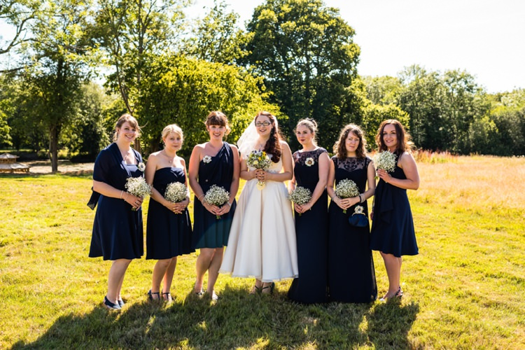 Navy Mismatched Bridesmaid Dresses Geeky Outdoorsy Woodland Wedding http://www.daffodilwaves.co.uk/