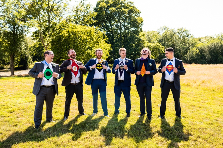 Superhero Groomsmen Geeky Outdoorsy Woodland Wedding http://www.daffodilwaves.co.uk/