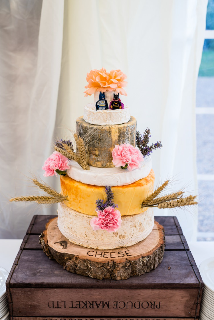 Cheese Tower Stack Log Stand Geeky Outdoorsy Woodland Wedding http://www.daffodilwaves.co.uk/