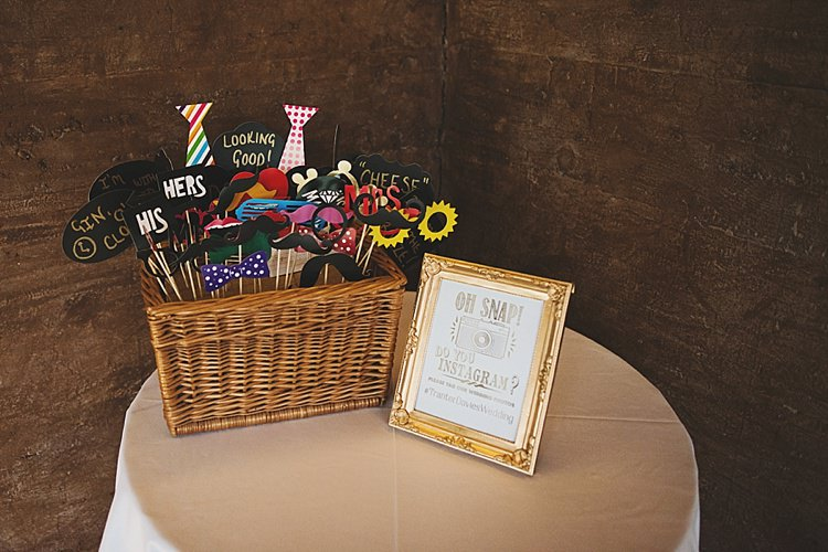 Photo Booth Props Classic Country House Black Gold Blush Wedding http://www.camillarosa.co.uk/