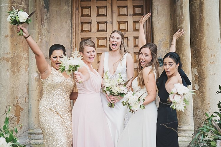 Mismatched Bridesmaid Dresses Sequin Classic Country House Black Gold Blush Wedding http://www.camillarosa.co.uk/