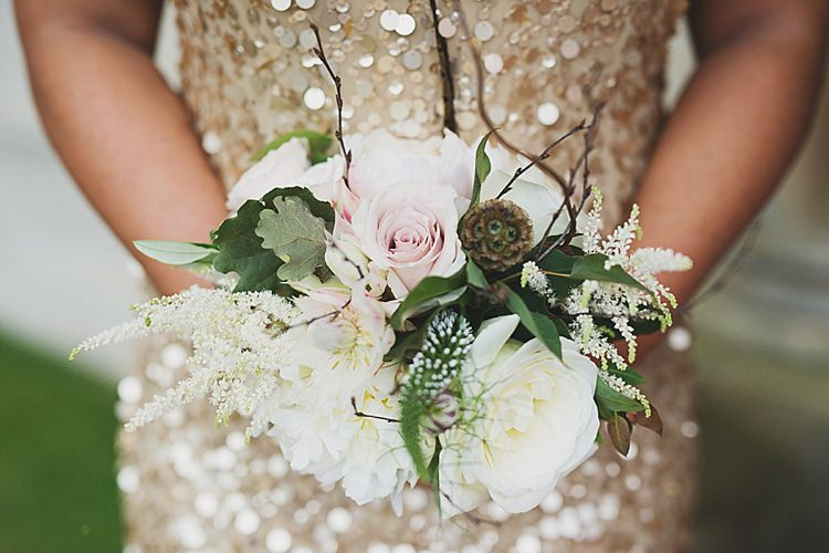 Bridesmaid Bouquet Flowers Classic Country House Black Gold Blush Wedding http://www.camillarosa.co.uk/
