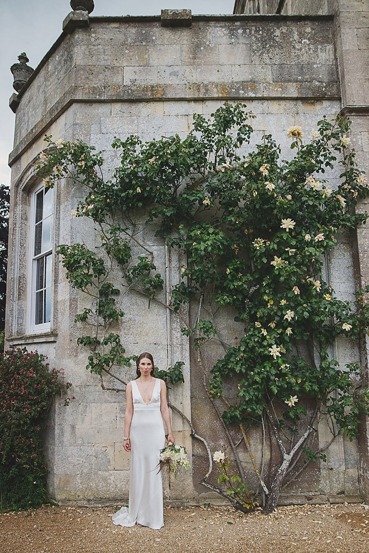 Charlie Brear Dress Gown Bride Bridal Classic Country House Black Gold Blush Wedding http://www.camillarosa.co.uk/