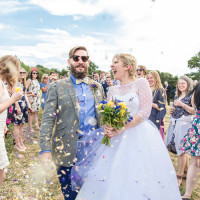 Country Farm Festival Yellow Blue Wedding http://vevi-wedding-photography.co.uk/