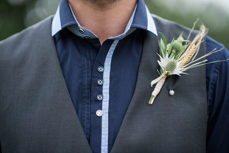 Thistle Wheat Buttonhole Groom Whimsical Soft Floral Meadow Wedding Ideas http://www.jbcreatives.co.uk/