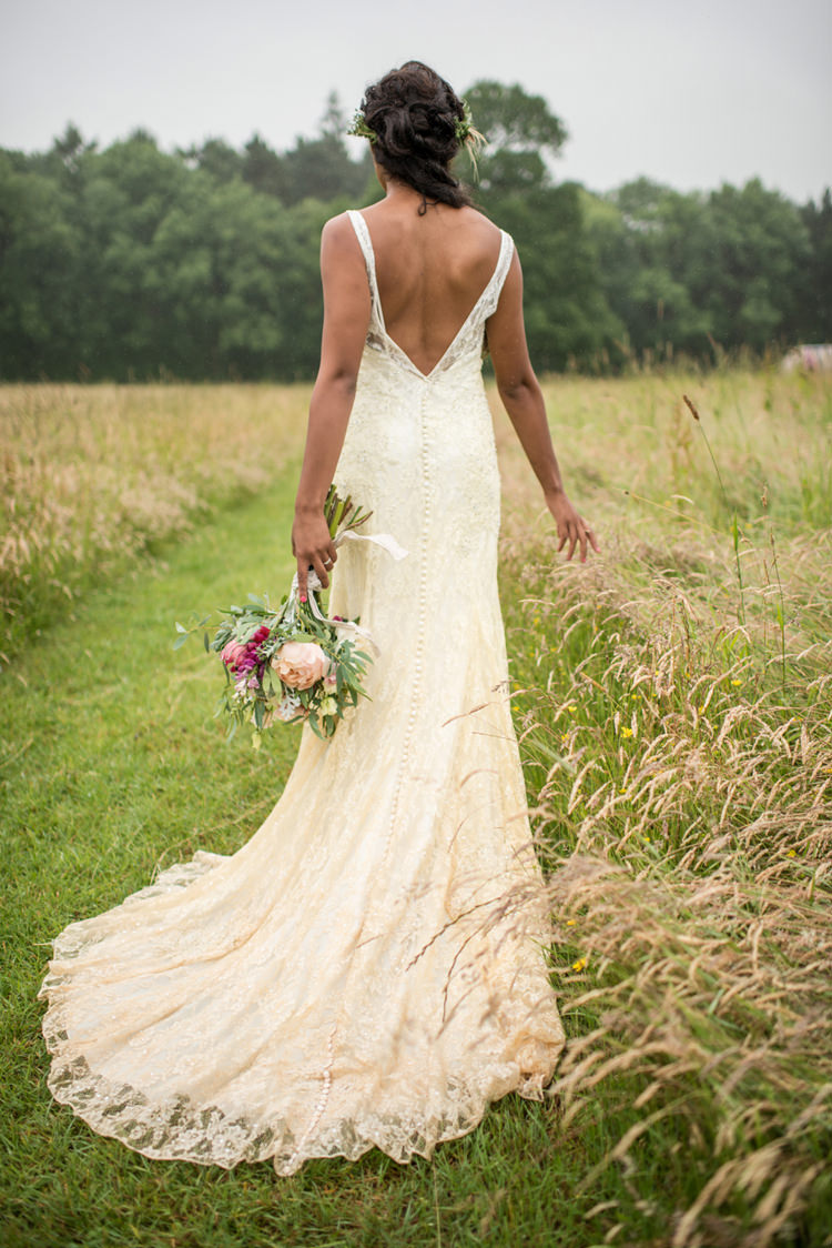 Willow Gown By Donna Salado Dress Bride Bridal Lace Whimsical Soft Floral Meadow Wedding Ideas
