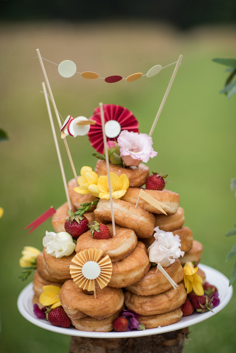 Donuts Bunting Pinwheels Whimsical Soft Floral Meadow Wedding Ideas http://www.jbcreatives.co.uk/