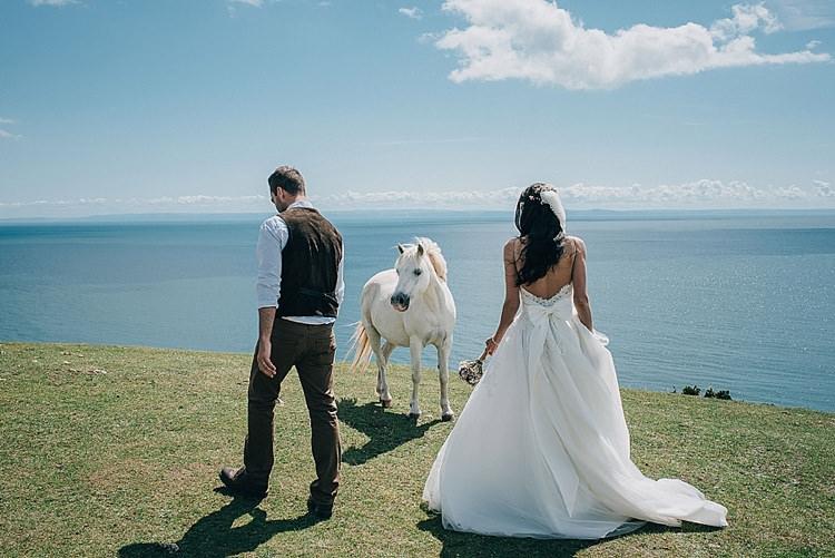 Pwll Du Beach, Gower Peninsula – South Wales Casual Summery Rustic Beach Wild Horses Wedding http://www.jasonmarkharris.com/