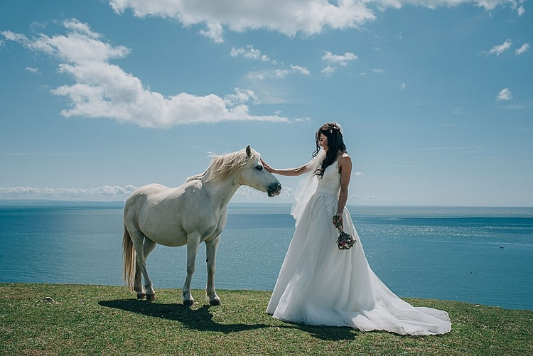 Allure Bridals Bride Dress Gown Casual Summery Rustic Beach Wild Horses Wedding http://www.jasonmarkharris.com/