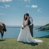 Casual Summery & Rustic Beach Wild Horses Wedding