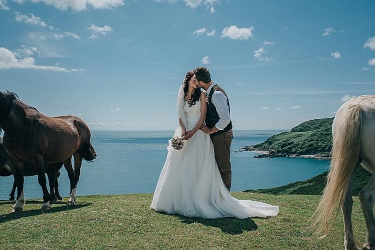 Casual Summery Rustic Beach Wild Horses Wedding http://www.jasonmarkharris.com/