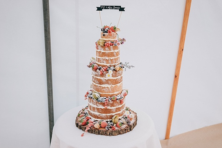 Naked Cake Layer Fruit Sponge Cream Tall Log Topper Casual Summery Rustic Beach Wild Horses Wedding http://www.jasonmarkharris.com/