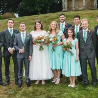 DIY Orange Mint Conservatory Wedding http://www.tierneyphotography.co.uk/