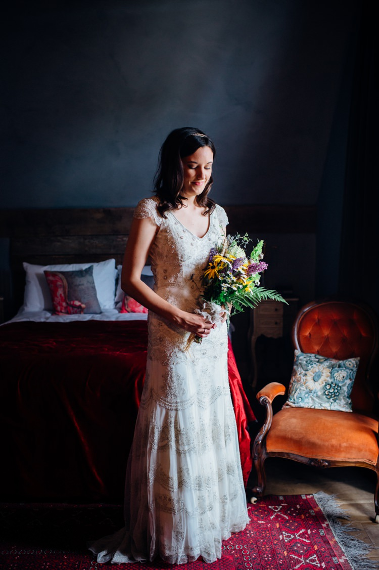 Monsoon Dress Bride Bridal Embellished Sequin High Street Sweet Hand Crafted Crochet Barn Wedding http://www.mariannechua.com/