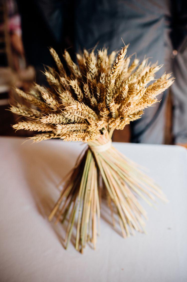 Wheat Flower Arrangement Sweet Hand Crafted Crochet Barn Wedding http://www.mariannechua.com/