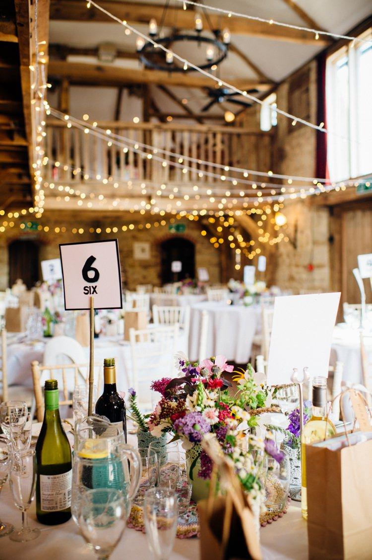 Swallows Oast Fairy Lights Sweet Hand Crafted Crochet Barn Wedding http://www.mariannechua.com/