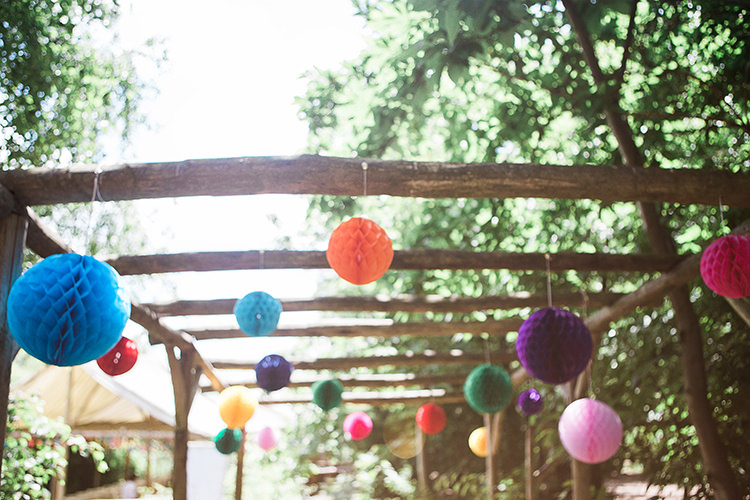 Honey Comb Lanterns Multi Colour Indie Hand Made Outdoor Woodland Wedding http://www.ilariapetrucci.co.uk/