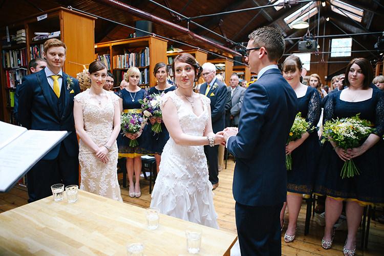 Book Shop Double Twin Wedding http://www.michellehuggleston.com/
