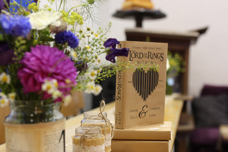 Book Table Names Lord of the Rings Double Twin Wedding http://www.michellehuggleston.com/