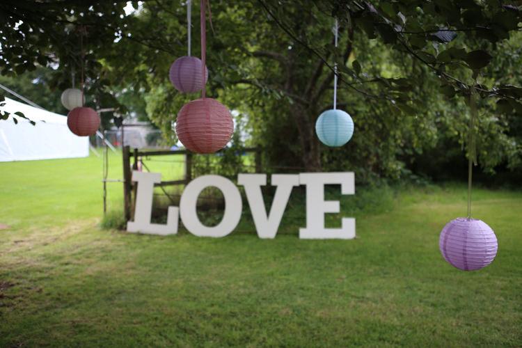 Lanterns Love Sign Travel Garden Party Farm Marquee Wedding http://sharoncooper.co.uk/