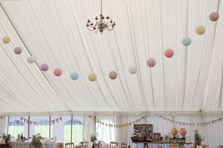 Lanterns Pastel Travel Garden Party Farm Marquee Wedding http://sharoncooper.co.uk/