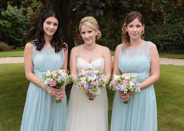 Pastel Blue Bridesmaid Dresses Long Travel Garden Party Farm Marquee Wedding http://sharoncooper.co.uk/