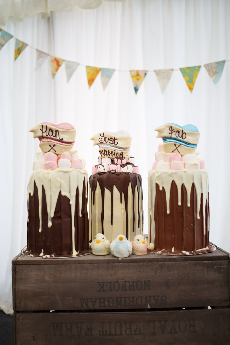 Choccywoccydoodah Marshmallow Drip Cakes Chocolate Travel Garden Party Farm Marquee Wedding http://sharoncooper.co.uk/