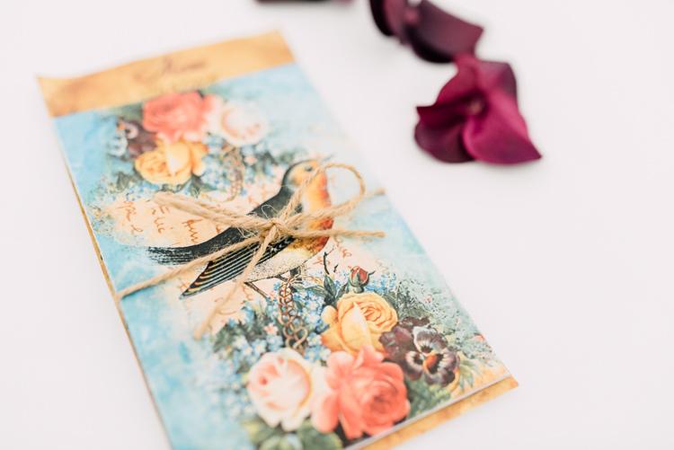 Bird Floral Stationery Fairytale Whimsical Burgundy Gold Wedding http://www.victoriatyrrellphotography.com/