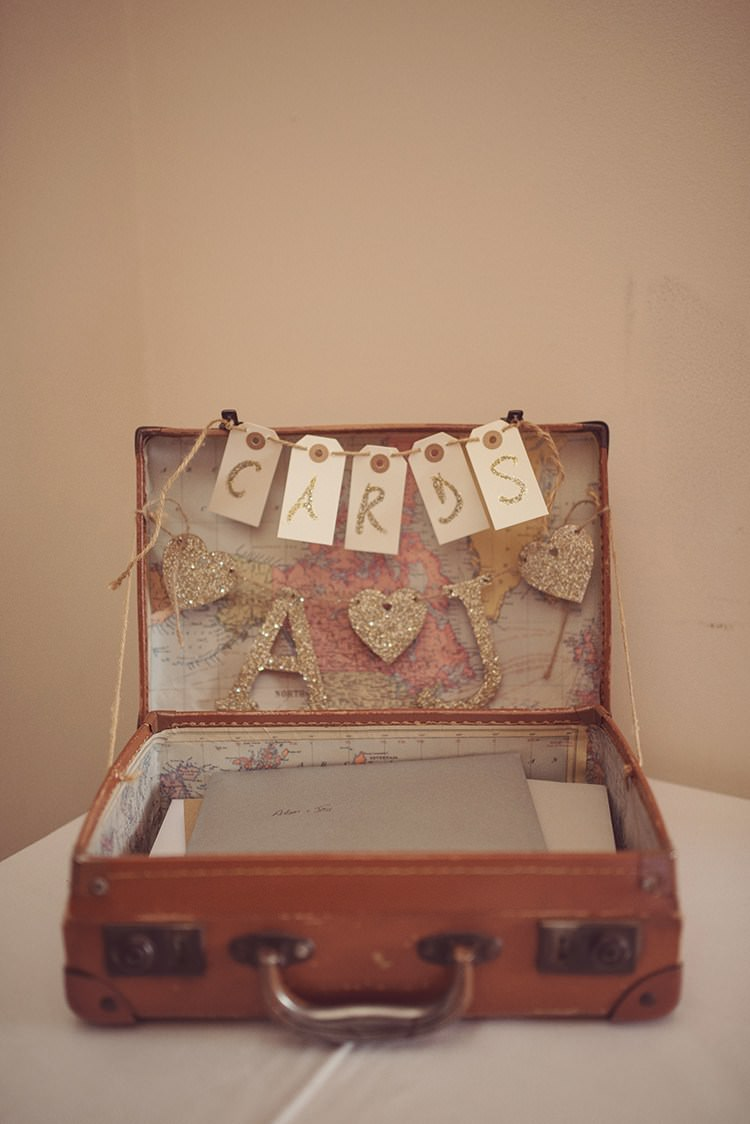 Wedding Suitcase Card Gift Holder Storage http://www.rebeccadouglas.co.uk/blog/