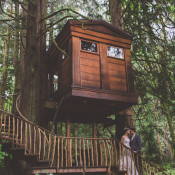 Treehouse Forest Wedding in Washington