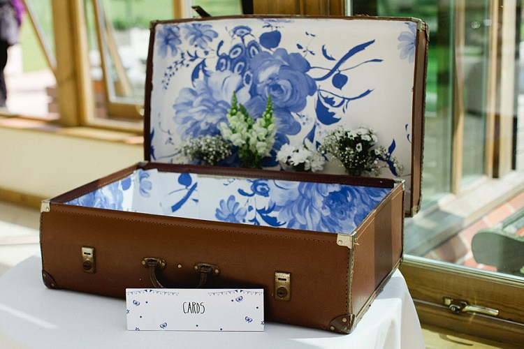Wedding Suitcase Card Gift Holder Storage http://nickifelthamphotography.com/