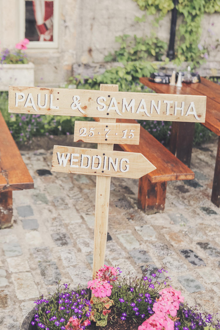 Wooden Sign Post Quirky Relaxed Yellow Country Wedding http://www.mr-and-mrs-wedding-photography.co.uk/
