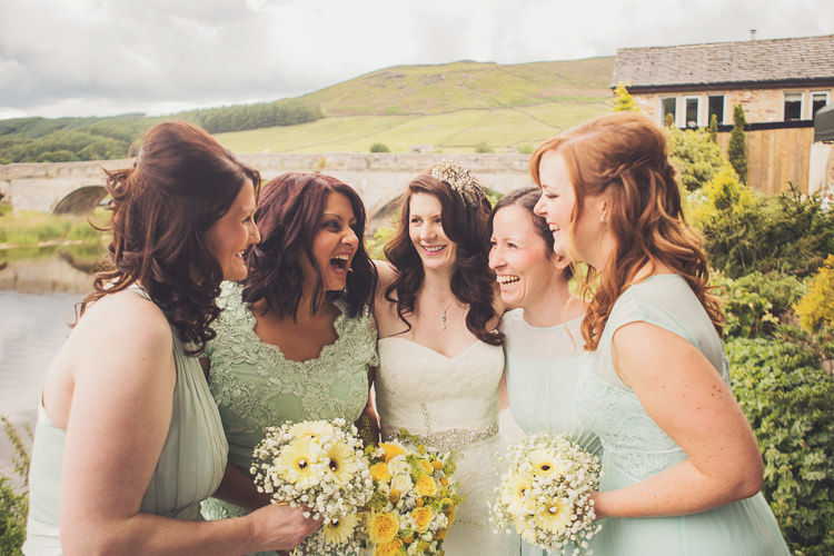 Mint Bridesmaid Dresses Quirky Relaxed Yellow Country Wedding http://www.mr-and-mrs-wedding-photography.co.uk/
